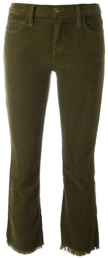 Current/Elliott 'The Kick' corduroy cropped jeans