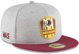 New Era Washington Redskins On Field Sideline Road 59FIFTY Fitted Cap