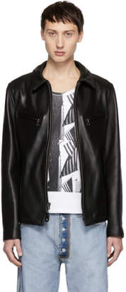 Schott Black Leather James Retro Jacket