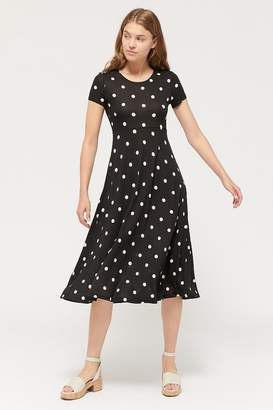 Urban Outfitters Darby Short Sleeve Midi Dress