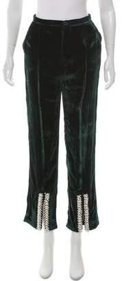 Maki Oh High-Rise Velvet Pants w/ Tags