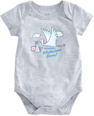 Vineyard Vines Short-Sleeve Stork Baby Bodysuit
