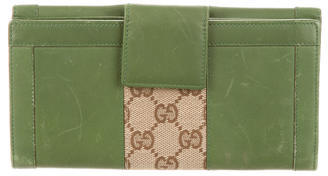 Gucci Gucci Leather Nailhead Continental Wallet