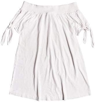 Roxy Junior's Bright Blue Sky Off The Shoulder Dress