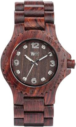 WeWood Men's Deneb DENEB- Brown Wood Analog Quartz Watch with Brown Dial