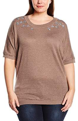 Zizzi Women's Blouse - Brown
