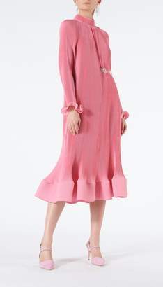 Tibi Pleated Dress with Removable Belt