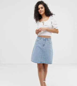 Only Tall denim a-line mini skirt