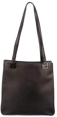 Ralph Lauren Metallic Textured Leather Tote 89f65c5923e01