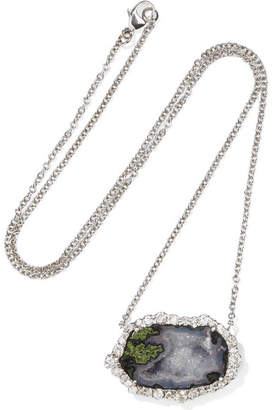 Kimberly McDonald - 18-karat White Gold, Geode And Diamond Necklace