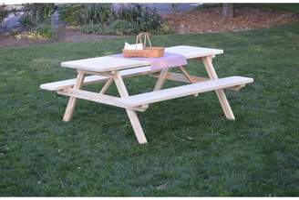 Loon Peak Ripley Solid Wood Picnic Table Loon Peak