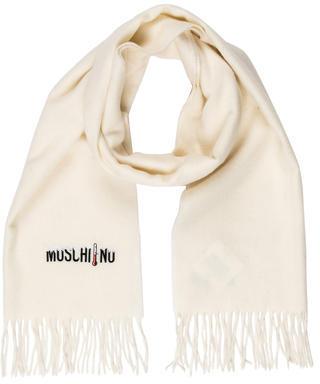 MoschinoMoschino Wool Fringe Scarf