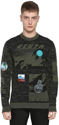 Kenzo Landscape Jacquard Sweater W/ Patches