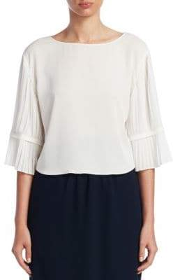 Emporio Armani Pleated Bell-Sleeve Blouse