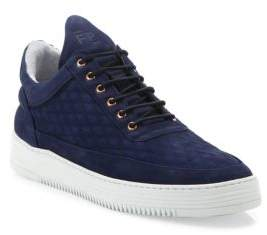 Filling Pieces Quilted Diamond Leather Low-Top Sneakers