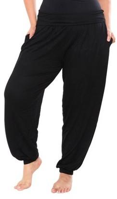 White Mark Women's Plus Harem Pants