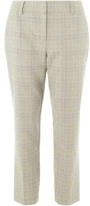 Dorothy Perkins Womens Check Ankle Grazer Trousers