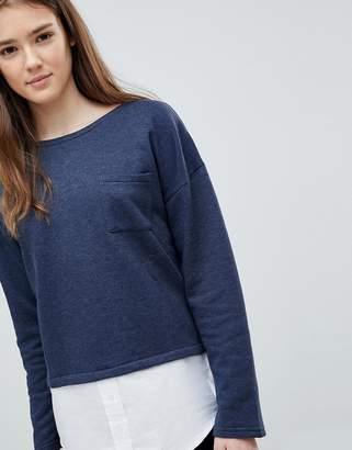 Blend She Layered Sweatshirt