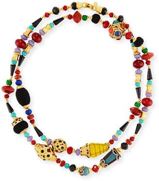 Jose & Maria Barrera Long Beaded Single-Strand Necklace