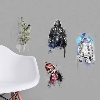 Star Wars Room Mates Iconic Watercolor Peel and Stick Wall Decal