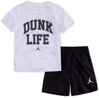 Jordan 2-Pc. Dunk Life T-Shirt & Shorts Set, Little Boys