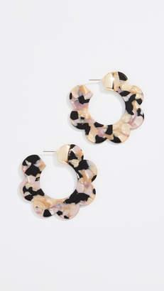 BaubleBar Acetate Wedge Hoop Earrings