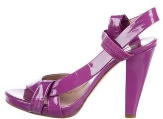Chloé Patent Leather Slingback Sandals