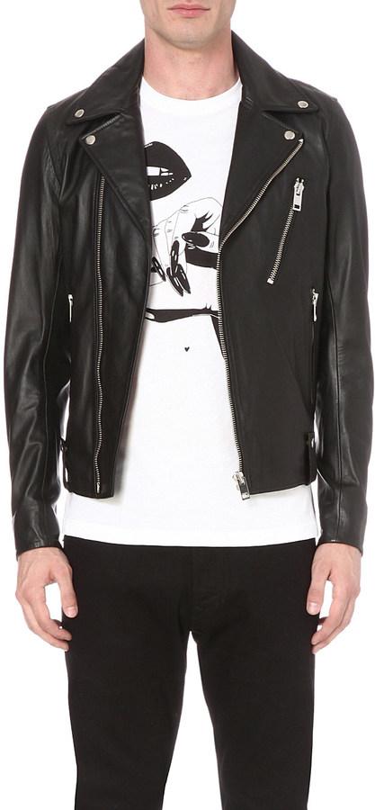 DieselDiesel L-Beck leather biker jacket