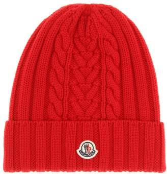 Moncler Cable-knit wool beanie