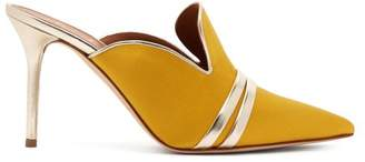 Malone Souliers By Roy Luwolt - Hayley Point Toe Satin Mules - Womens - Yellow