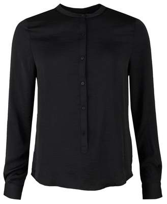 Luella Moss Copenhagen Polysilk Shirt Colour: BLACK, Size: MEDIUM