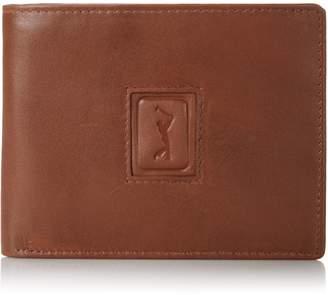 PGA TOUR Men's Leather Passcase Logo