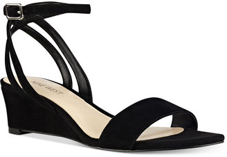 Nine West Lewer Wedge Sandals $79 thestylecure.com