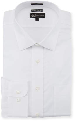 Neiman Marcus Classic-Fit Regular-Finish Dobby-Texture Solid Sport Shirt