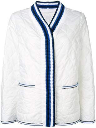 Ermanno Scervino quilted knit collar jacket