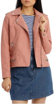 Vero Moda World Short Faux Leather Jacket