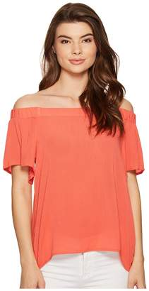 1 STATE 1.STATE Off Shoulder Flounce Sleeve Blouse Women's Blouse