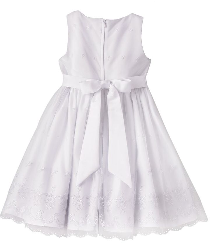 Princess faith floral embroidered dress - girls 7-16 2