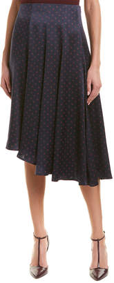 Vince Asymmetric Silk Skirt