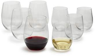 Riedel O Chardonnay and Cabernet Stemless Wine Glasses, Set of 8