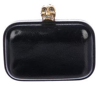Alexander McQueen Leather Skull Box Clutch