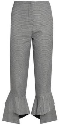 Nicholas Houndstooth Tweed Kick-Flare Pants