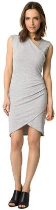 Le Château Women's Chic Knit Wrap Dress,L,Light Grey