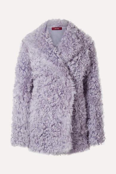 Sies Marjan Shearling Coat - Lilac