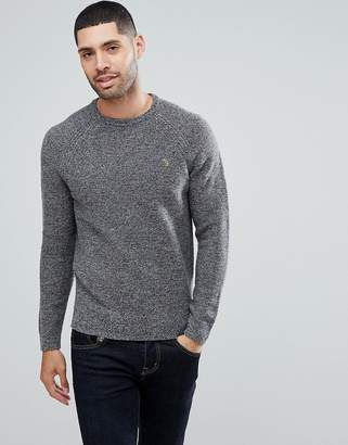 Farah Bagod Slim Fit Textured Knitted Sweater In Gray