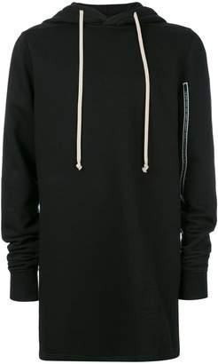 Rick Owens long length hoodie