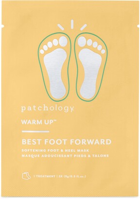 Patchology Warm Up(TM) Best Foot Forward Softening Foot & Heel Mask