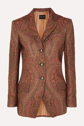 Etro Wool-blend Jacquard Blazer - Brick