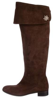 Charlotte Olympia Suede Knee-High Boots w/ Tags