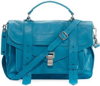 Proenza Schouler PS1 Leather Satchel Bag, Blue
